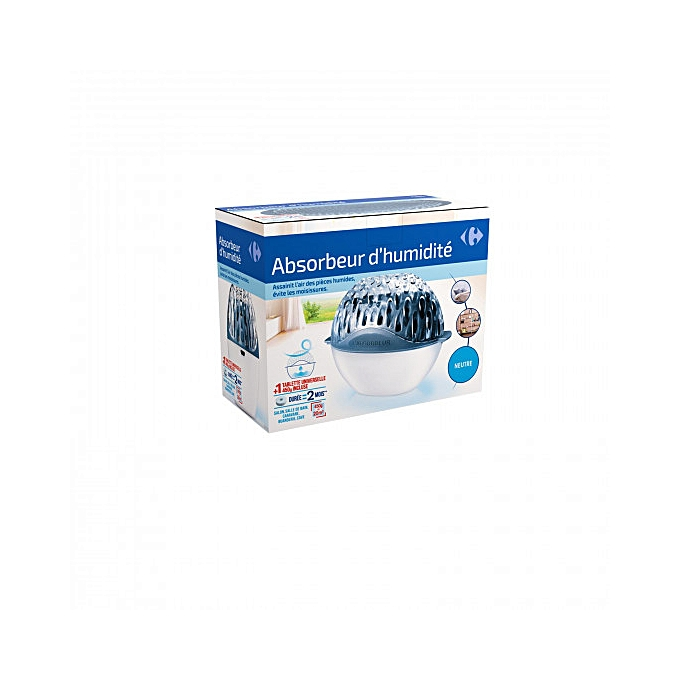 HOME BASICDéshumidificateur Absorbeur D humidité 450 G 20m² + 1 Recharge  Incluse – Blanc 82d8ce6f7699