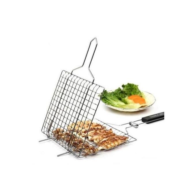 Accessoire utile grille viande en acier inox gris for Accessoire cuisine utile