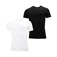 5cf45a68c387 Pack De 2 Tee-shirts Homme Près Du Corps - Blanc   Noir