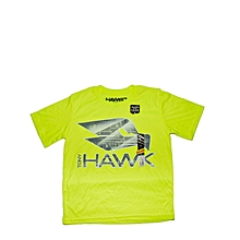 t-shirt enfant à imprime hawk- vert olive
