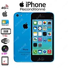 iphone 5c - 4g lte - wifi - 8 mégapixels - 1gb ram- 16gb -puces a7 - m7 - bleu / reconditionné - garantie 3 mois