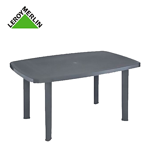 Leroy Merlin Table De Jardin Gris Anthracite Rectangulaire En ...