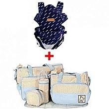 Sac à Langer Imprimé Bleu + Porte-bébé Kangourou - Bleu 8604882aed0