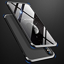 phone case for iphone xs max , 3 in 1 double dip 360° full protection ultra slim hard plastic/pc matte phone case [anti falling] phone cover [shockproof] phonecase /phone protector for iphone xs max