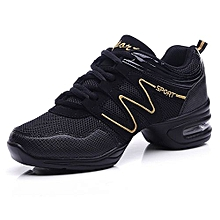 jazz dance shoes women air mesh sneakers lady fitness shoes black