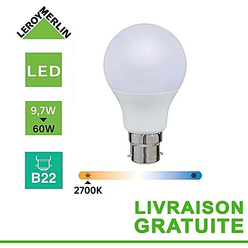 D'énergie Ampoule Équiv Led KÉconomie 9 Baillonnette 2700 B22 7w À 60w NOkP8X0nw