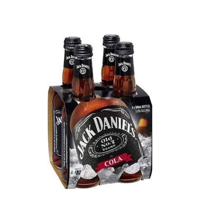 Lot De 4 Boissons Jack Daniel's et Cola 340 ml - 5° Alc