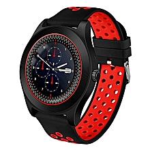 montres et accessoires smartwtach tf8 - bluetooth - android - prends la carte mémoire et la carte sim - fonctions de téléphone ( appels & sms ) - rouge/noir