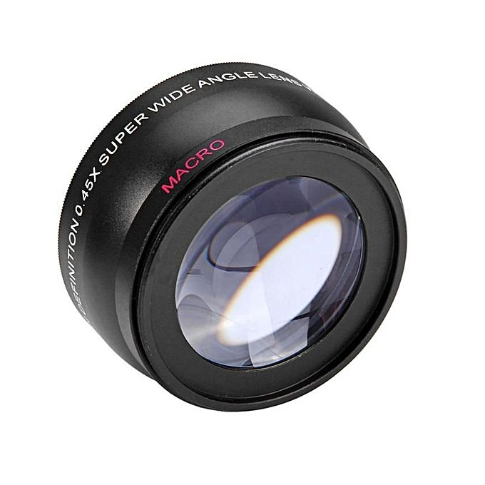 accessoires photo 58mm 0 45x lentille fish eye grand angle objectif macro pour nikon sony canon. Black Bedroom Furniture Sets. Home Design Ideas