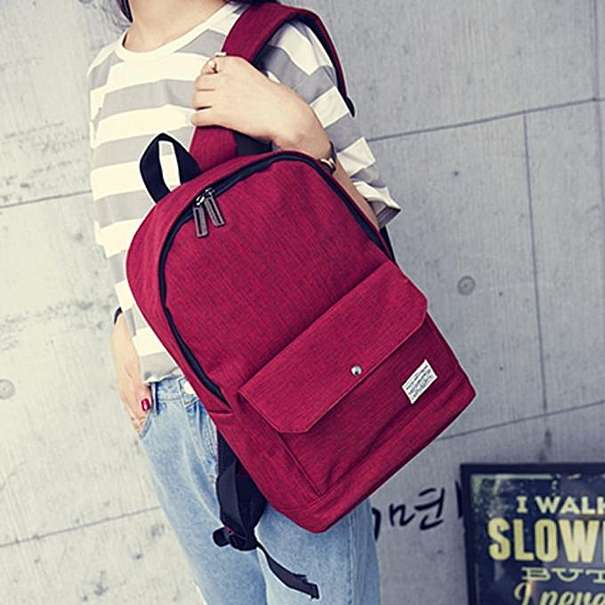 NeworldlineWomen Casual Backpack Girl School Fashion Shoulder Bag Rucksack Travel Bags Red-RedSacs à Dos |  Côte d'Ivoire