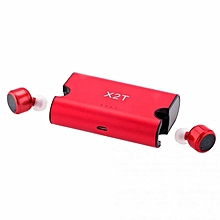 portable true wireless earbuds tws x2t mini headphone bluetooth 4.2 earphone 1500mah charger box for iphone and andriods xyx-k
