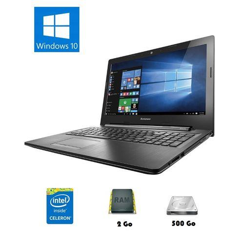 lenovo ordinateur portable g50 30 15 6 pouces 500 gb 2 gb dual core licence officielle. Black Bedroom Furniture Sets. Home Design Ideas