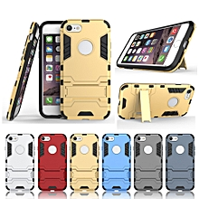 "iphone 6 case, 4.7"" hard pvc+rubber cover kickstand for apple 6s"