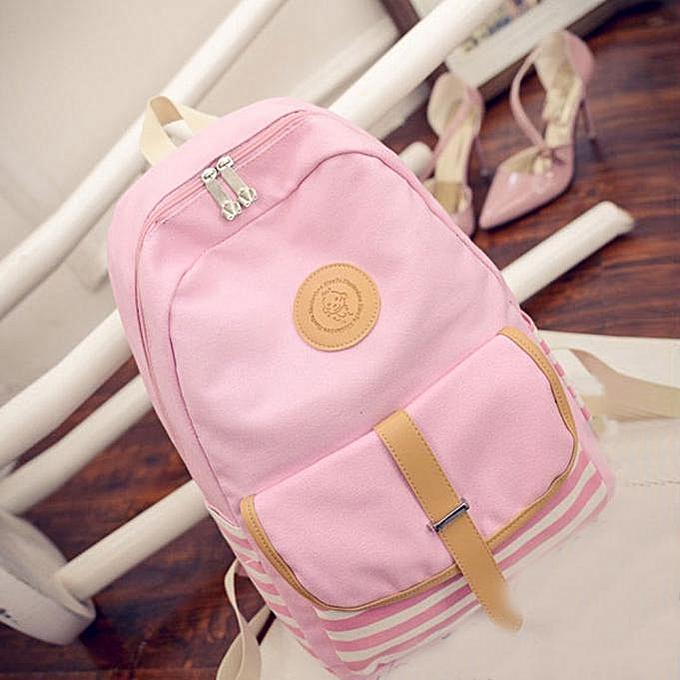 NeworldlineWomen Fashion Canvas Travel Satchel Shoulder Bag Backpack  PK- PinkSacs à Dos    Côte d'Ivoire