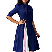 5cf08002478 Robe Sexy Class Manches Courtes - Bleu