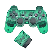 for sony ps2 bluetooth wireless controller transparent clear gamepad for sony playstation 2 joystick 2.4g vibration controle fcshop