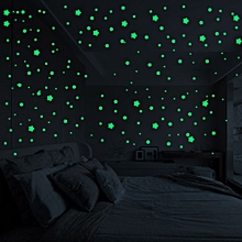 jiahsyc store  3d stars glow in the dark luminous fluorescent wall stickers room decors-as  shown