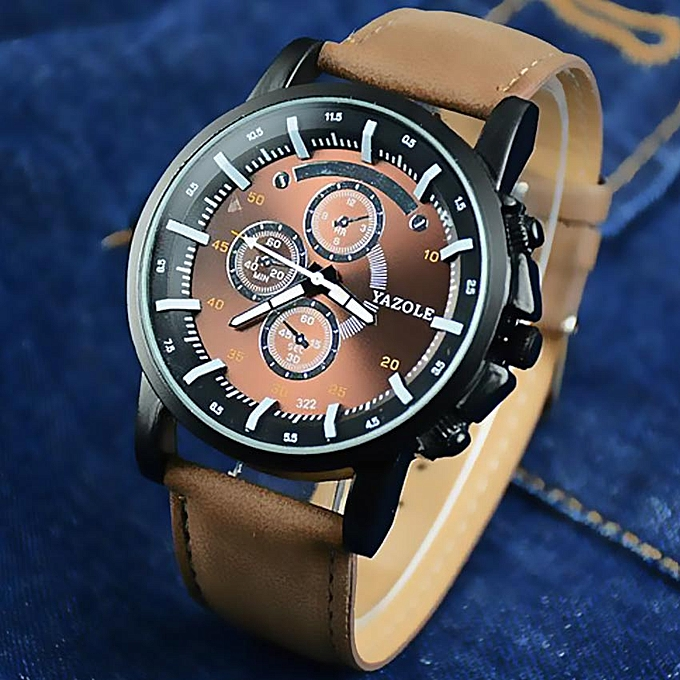Image result for Montre A Quartz Pour Homme - Marron