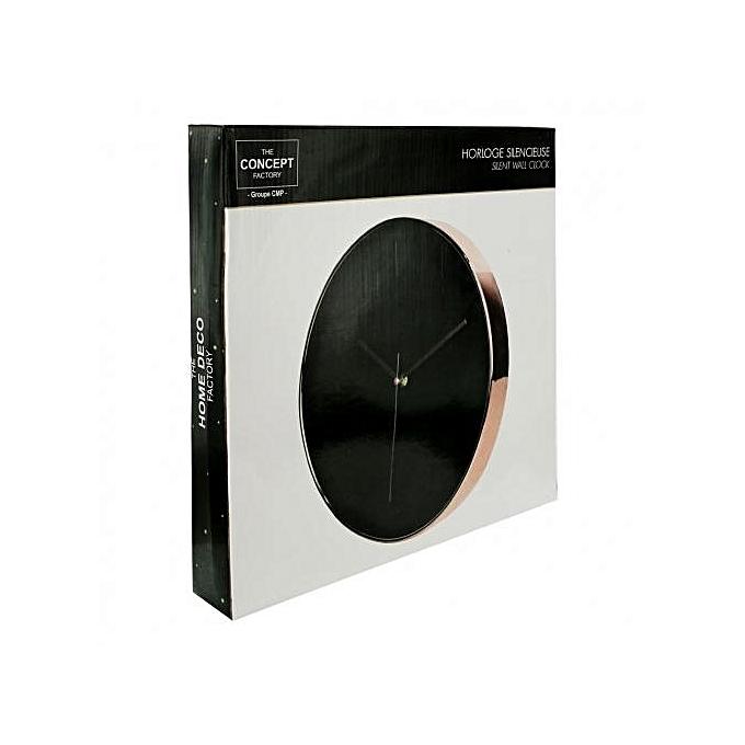 natur horloge ronde murale d co cuivr noir 30 70 x 4 50 x 30 70 cm au c te d 39 ivoire prix. Black Bedroom Furniture Sets. Home Design Ideas
