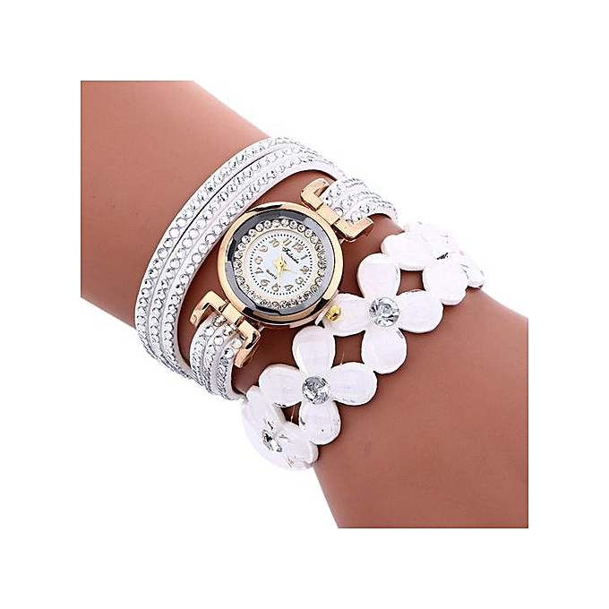 FULAIDA Africashop Watch Fulaida-Fashion Chimes Diamond Leather Bracelet Lady Womans Wrist Watch-White au Côte d'Ivoire à prix pas cher  | Promotion  Anniversaire