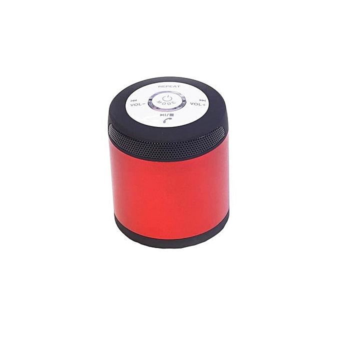 Generic Speaker  Portable Wireless Bluetooth Stereo FM Speaker For Smartphone Tablet Laptop RD-red au Côte d'Ivoire à prix pas cher    Promotion  Anniversaire
