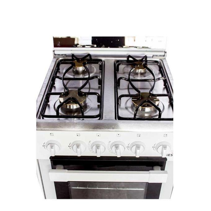 fiesta cuisini re gaz 4 feux 50 x 50 x 90 cm blanc. Black Bedroom Furniture Sets. Home Design Ideas