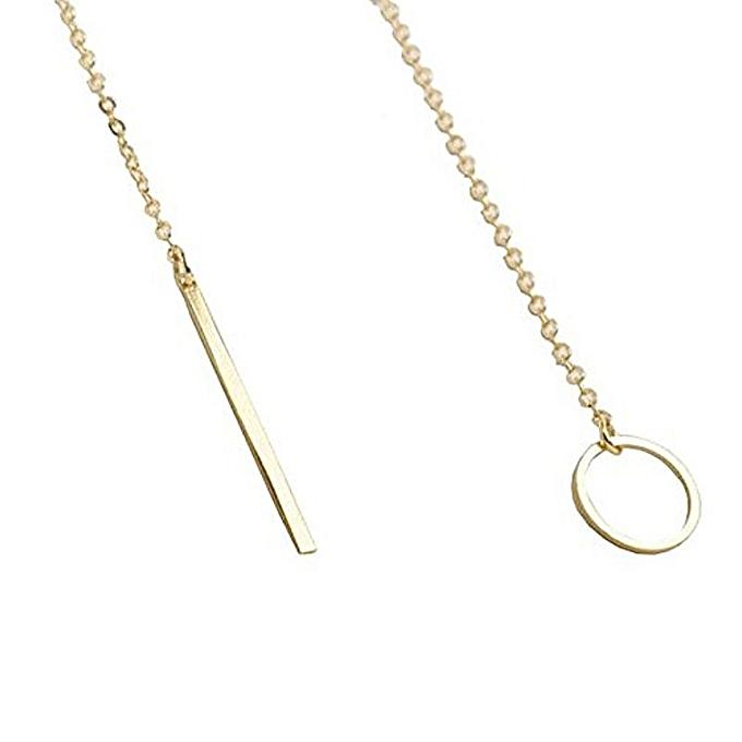 Generic XY Fancy Women`s Simple Gold Ring Circle Bar Pendant Shiny Alloy Short Necklace au Côte d'Ivoire à prix pas cher  | Promotion  Anniversaire