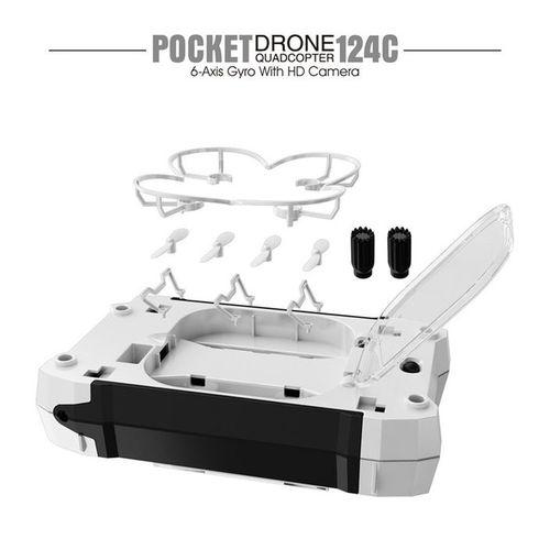 Mini Drone FQ777-124C Avec Camera 2.0MP 720P HD-Noir