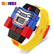 skmei enfants led numérique montres enfants cartoon sports montre eletronic garçons robot jouets montres
