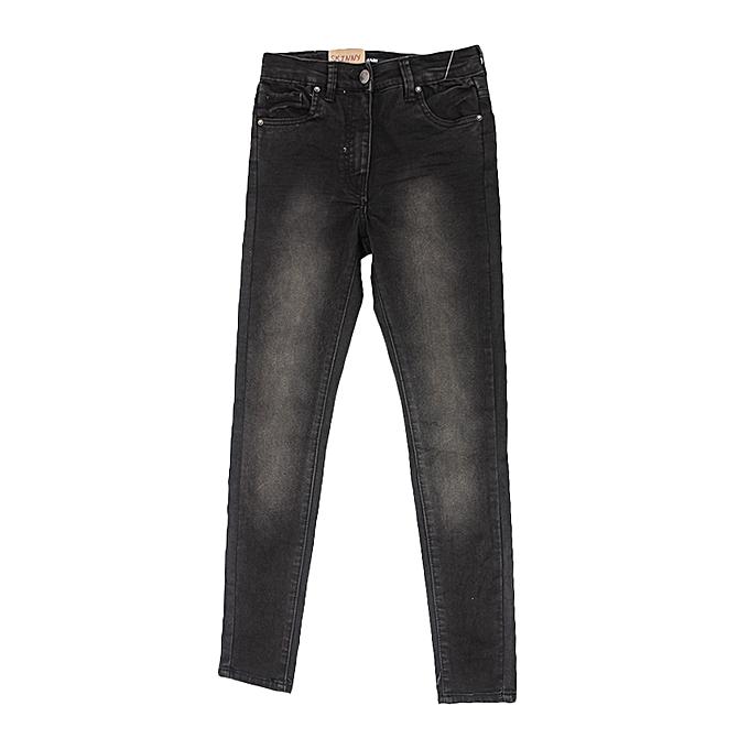 kiabi pantalon jeans skinny fit fille taille haute stretch noir prix pas cher jumia ci. Black Bedroom Furniture Sets. Home Design Ideas