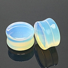 1 pcs creative opal ear ring ear tunnel ear piercing hollow expander body jewelry ear plugs #16mm