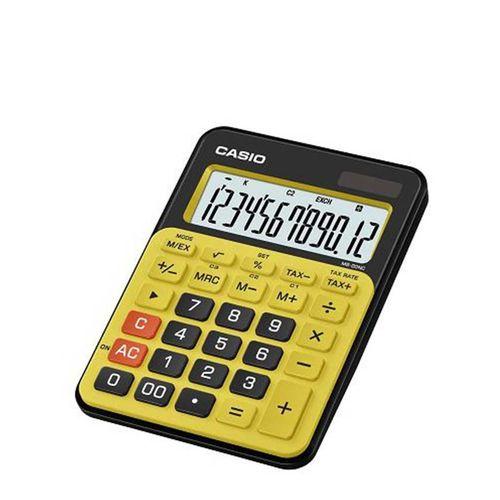 CASIO Calculatrice De Bureau 12 Chiffres Colores JauneNoir