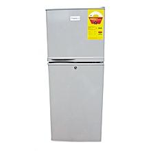 réfrigérateur 2 battants 166 litres - gris/argent - 12 mois de garantie