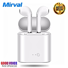 i7s new double ear mini bluetooth headsets air pods earbuds wireless headphones earphone earpiece for apple iphone android air pods xyx-k