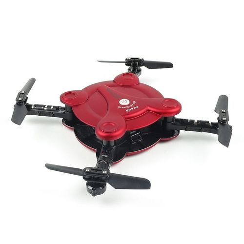 FQ777 FQ17W WIFI FPV Foldable Pocket Drone With 0.3MP Camera Altitude Hold Mode Red