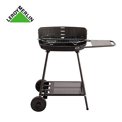 Leroy Merlin Barbecue à Charbon Corfou Noir Cuve En Fonte Haut
