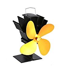 co l'énergie thermique chaleur ventilateur cheminée poêle à bois alimenté des fans à quatre feuilles-l'or