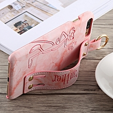 long pink panther pu+pc case for iphone 8 plus & 7 plus, with holder