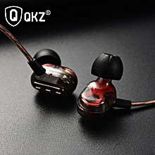 qkz kd8 dual driver earphone hifi stereo super bass metal music subwoofer earphones gaming headset with mic for ios iphone android sumsung xiaomi oppo vivo pri-p