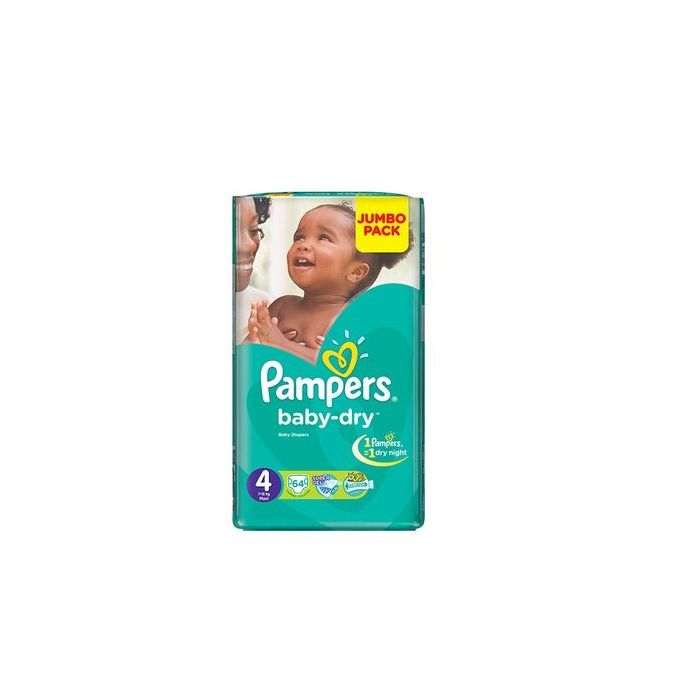 Pampers couches baby dry taille 4 7 18 kg jumbo pack 64 couches acheter en ligne - Couche pampers baby dry taille 4 ...
