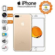 iphone 7 plus - 5.5 pouces - 4g lte - 32go rom- 3 go ram - 12mpx+12mpx - or + protège offert reconditionné - garantie 12 mois