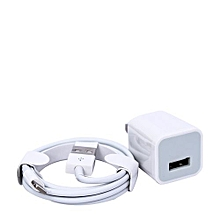 chargeur compatible iphone x 5 usb  power  adapter  chargeur - blanc