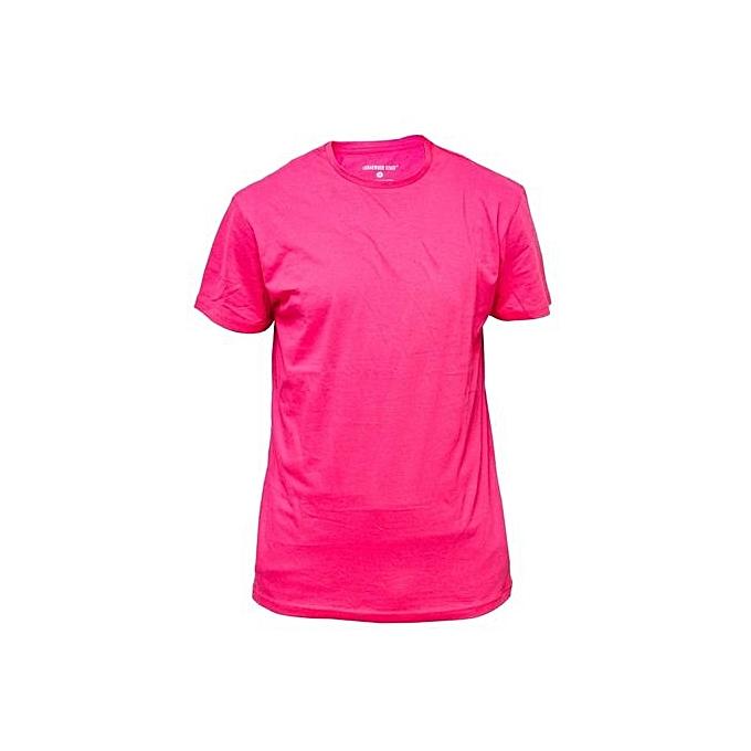 2552d9f30d2 Fashion T-Shirt Uni Coton Manches Courtes - Rose - Prix pas cher ...
