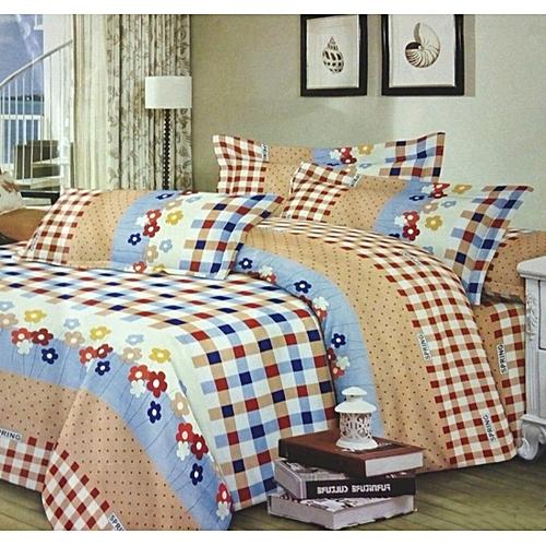 new brand draps 3 places 4 pi ces 1 drap 1 couvre lit 2 coussins multicolore prix pas. Black Bedroom Furniture Sets. Home Design Ideas