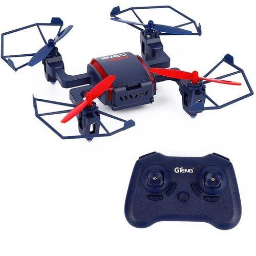 GTENG T901C 2-zoom.4Ghz 6 Axle Gyro 4 Channel RC Drone 200W 720P HD Camera RTF-Blue