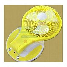 ventilateur rechargeable pour bébé avec veilleuse - rose