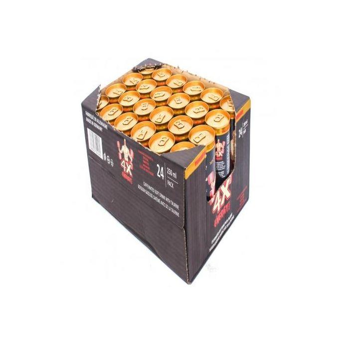Boisson énergétique 4X - Pack De 24 Canettes + 3 Canettes