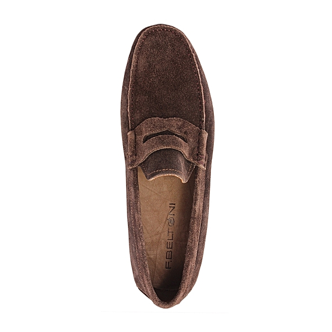 F.Beltoni Mocassins Chaussure Bateau Daim Details Moustache - Marron ... 9d25d0000fd3