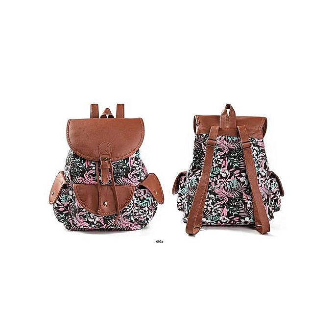 Generic Nice Popular Double-shoulder Bag Gril's Canvas Bag Style  Backpack Zipper au Côte d'Ivoire à prix pas cher    Promotion  Anniversaire