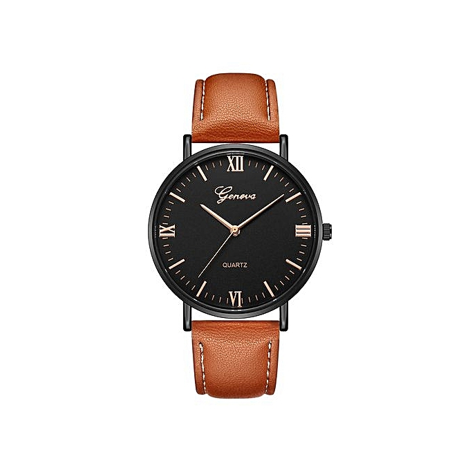Geneva Geneva  Africashop Sport Watch  Classic Hot Luxury Women Stainless Steel Analog Quartz Analog Wrist Watch-Brown au Côte d'Ivoire à prix pas cher  | Promotion  Anniversaire
